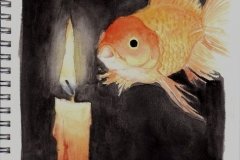 Candle and fish