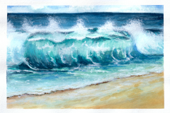 Wave in watercolor